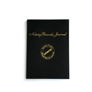Notary Journal Hard Back State Approved